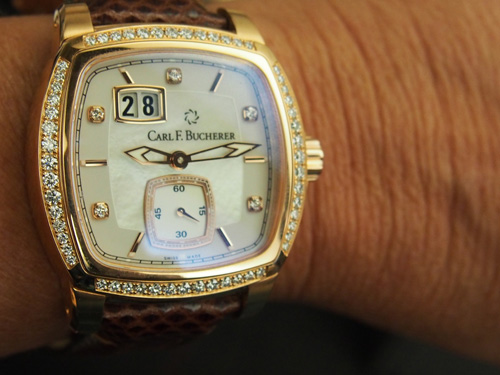 This Carl F. Bucherer Patravi EvoTec BigDate for women offers superb form and function -- and it is the perfect size.