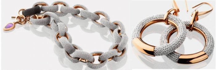 Adami and Martucci Mesh jewelry