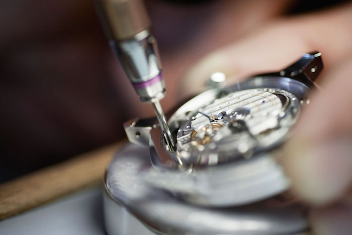 The movement for the watch is made entirely in house.