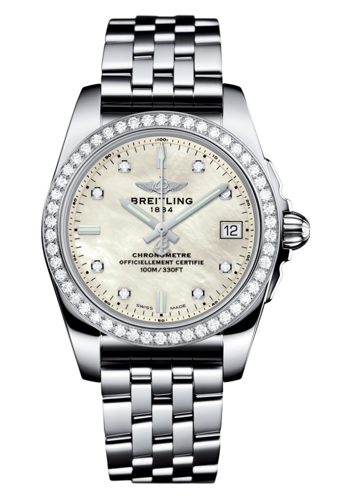 Breitling Galactic 36 SleekT with Diamond Bezel