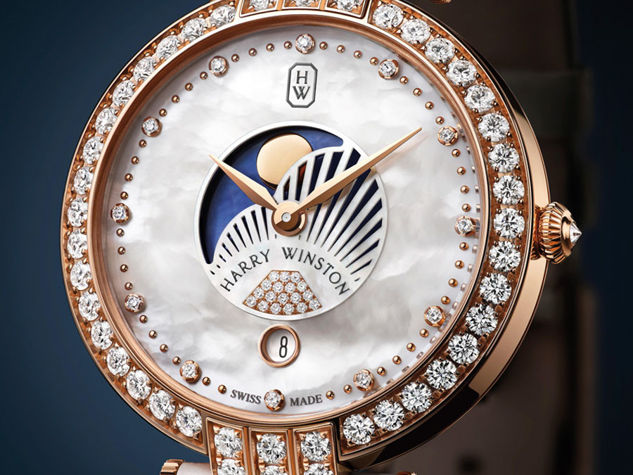 If Your Sweetheart is the Man in the Moon, this Harry Winston Watch is Your Star
