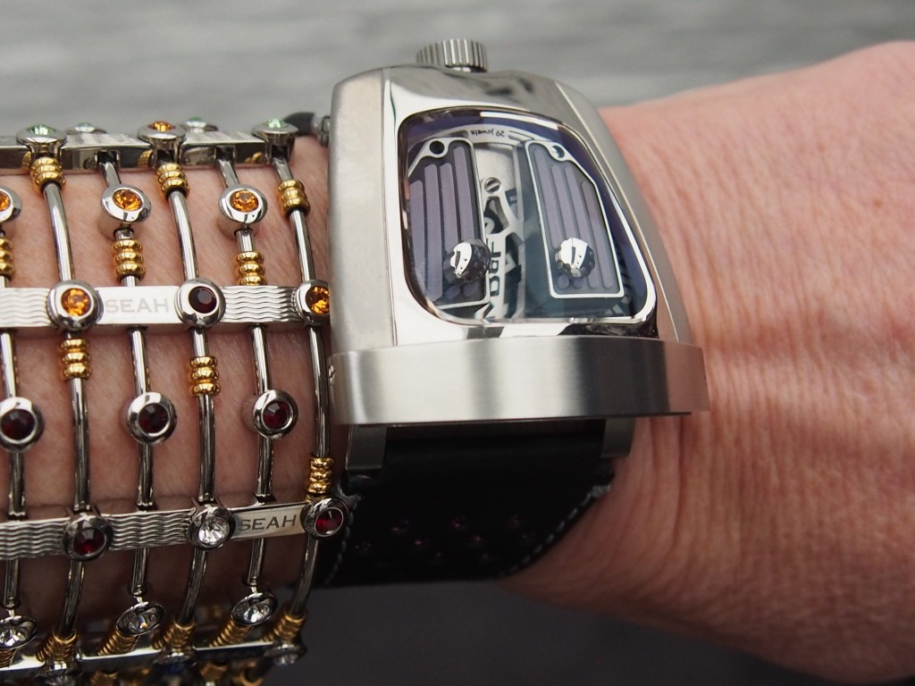The MB&F HMX Black Badger is perfect for the feminine wrist.