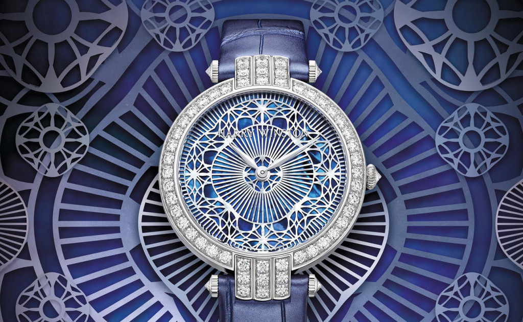 Harry Winston Premier Pearly Lace Automatic 36mm watch is actually carved mother of pearl.
