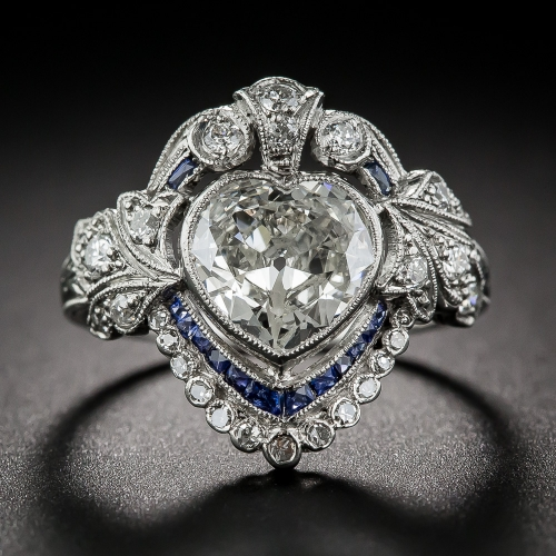 Edwardian heart-shaped engagement ring