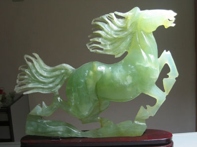 China is the biggest market for Myranmar jade, which is typically carved and made into sculptures or jewelry.