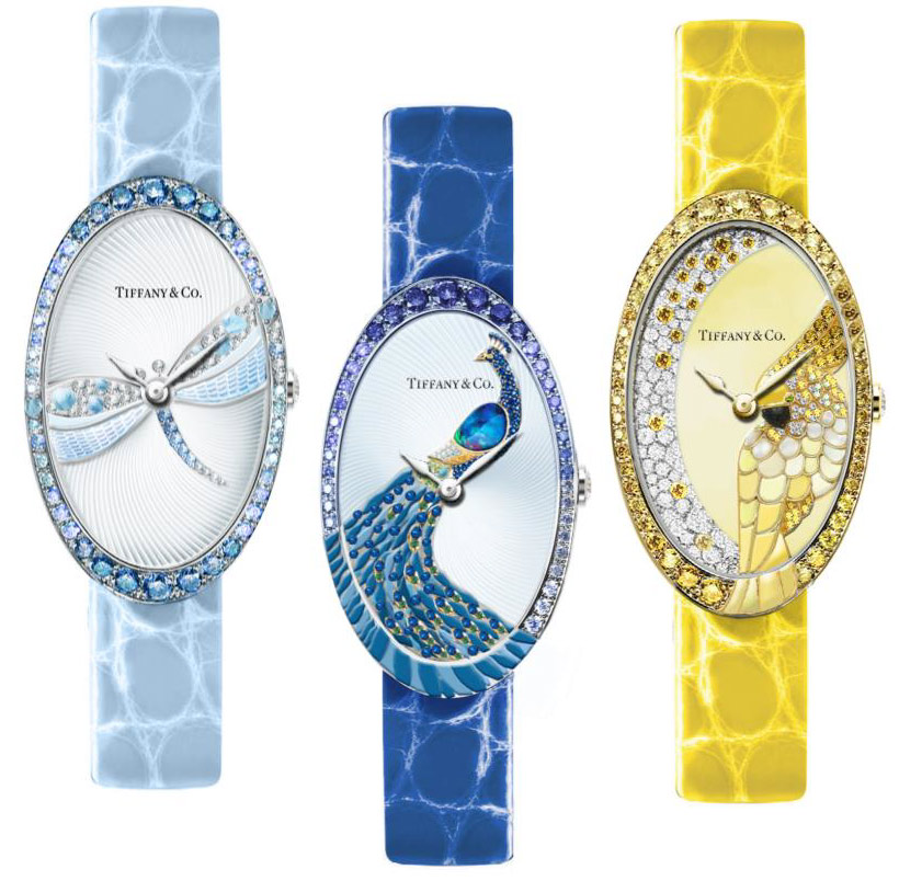 Tiffany & Co. Bluebook 2017 cocktail watches with nature theme.