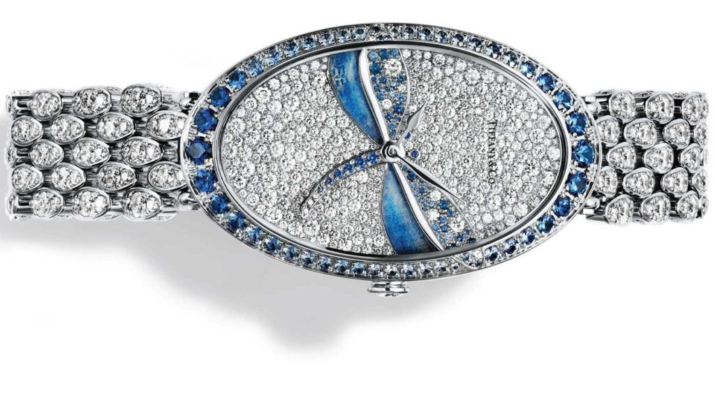 Tiffany Blue Book Dragonfly diamond and sapphire cocktail watch, 2017.