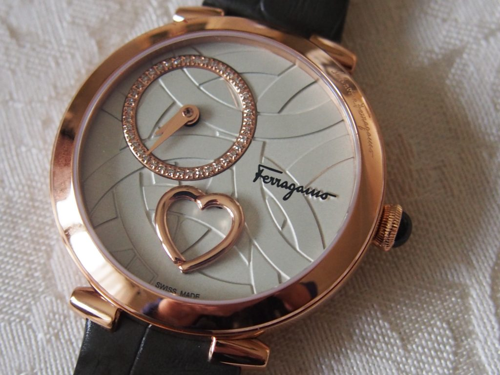 Ferragamo watch features a heart that actually opens and closes.