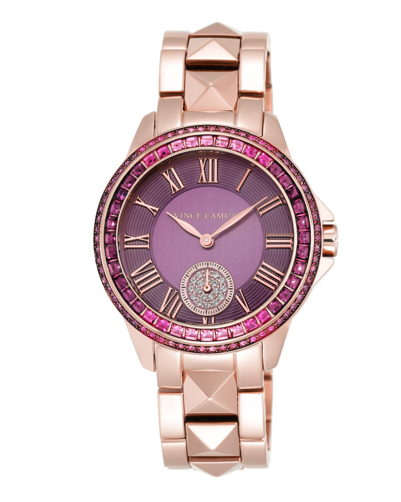 Vince Camuto watch with Swarovski crystals, $250.