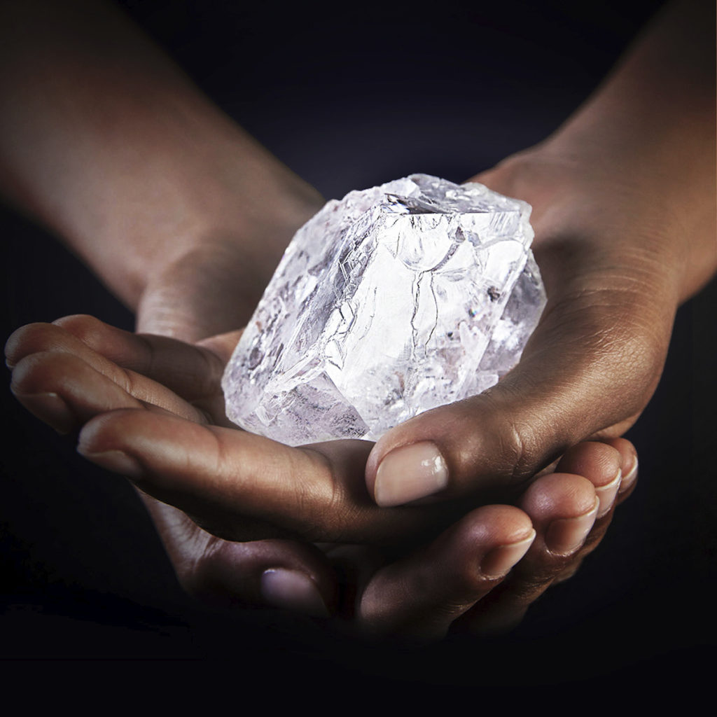 1,109-carat Lesedi La Rona Diamond before being cut by Graff Diamonds of London.
